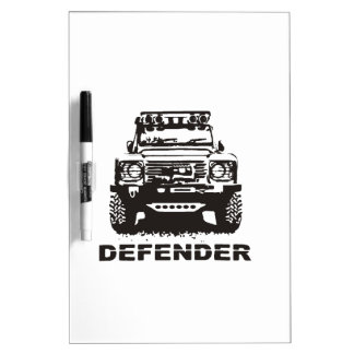 Landy Land rover Defender Hikingduck Dry Erase Whiteboard