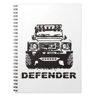 Landy Land rover Defender Hikingduck Spiral Notebook
