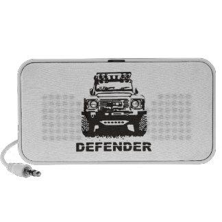 Landy Land rover Defender Hikingduck Travelling Speakers