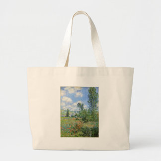 Lane in the Poppy Fields - Claude Monet Large Tote Bag