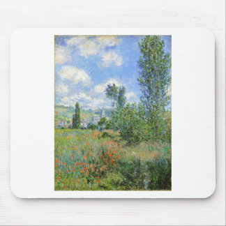 Lane in the Poppy Fields - Claude Monet Mouse Pad