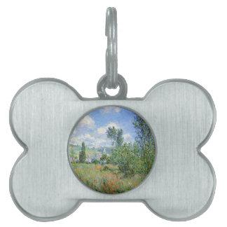 Lane in the Poppy Fields - Claude Monet Pet ID Tag