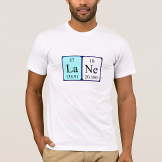 Lane periodic table name shirt
