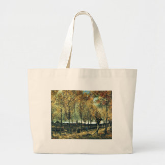 Lane with Poplars painting by Vincent Van Gogh Canvas Bag