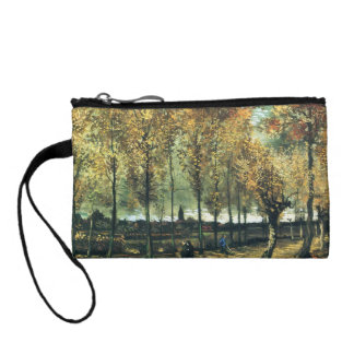 Lane with Poplars painting by Vincent Van Gogh Change Purse