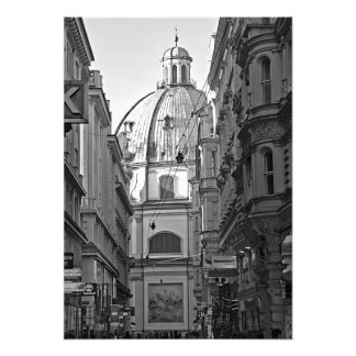 Lanes of the central part of Vienna Photo Print