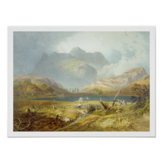 Langdale Pikes, from 'The English Lake District', Poster