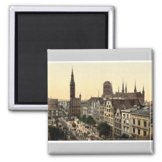 Langen Market and Court House, Danzig, West Prussi Square Magnet
