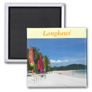 Langkawi Beaches Square Magnet