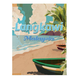 Langkawi Malaysia Vintage vacation Poster Post Card