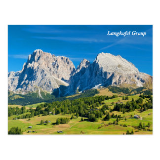 Langkofel Group in South Tyrol, Italy Postcard