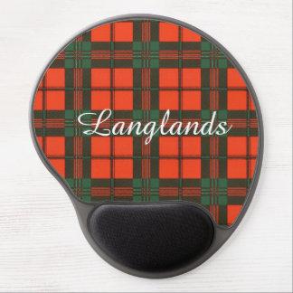 Langlands clan Plaid Scottish kilt tartan Gel Mouse Pad