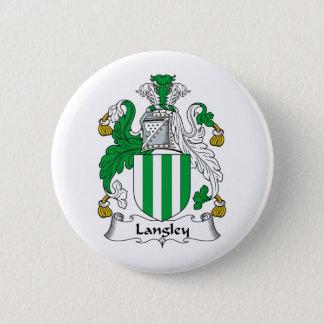 Langley Family Crest 6 Cm Round Badge