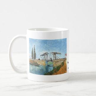 Langlois Bridge at Arles by Vincent van Gogh Basic White Mug