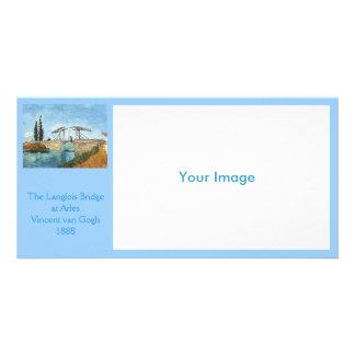 Langlois Bridge at Arles by Vincent van Gogh Photo Card Template