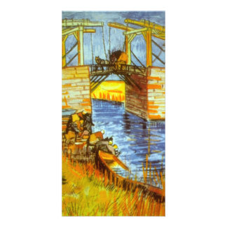 Langlois by Vincent van Gogh Personalized Photo Card