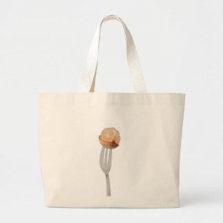 Langsat fruit on a fork jumbo tote bag