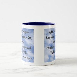 Langston Hughes Dreams Quote Two-Tone Coffee Mug