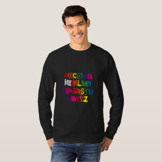 Language Alphabet Funny Rainbow Typography T-Shirt