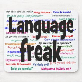 Language freak and background black mouse pad