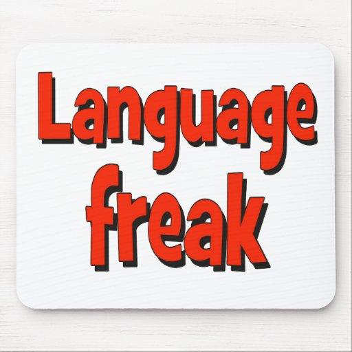 Language freak Basic red Mousepads