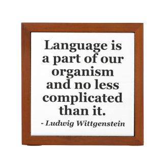 Language is part Quote Desk Organiser