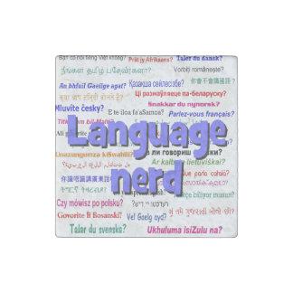 Language nerd and background blue stone magnet