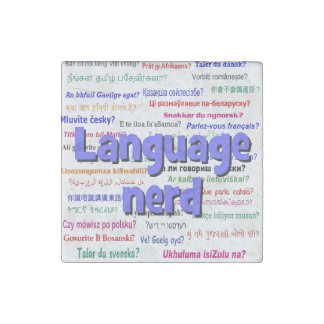 Language nerd and background blue stone magnet