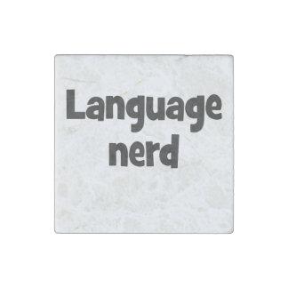 Language nerd Basic black Stone Magnet