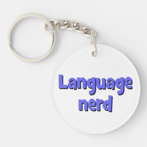 Language nerd Basic blue Acrylic Key Chains