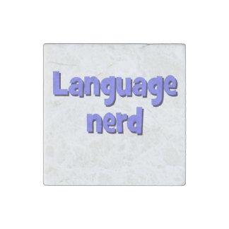 Language nerd Basic blue Stone Magnet