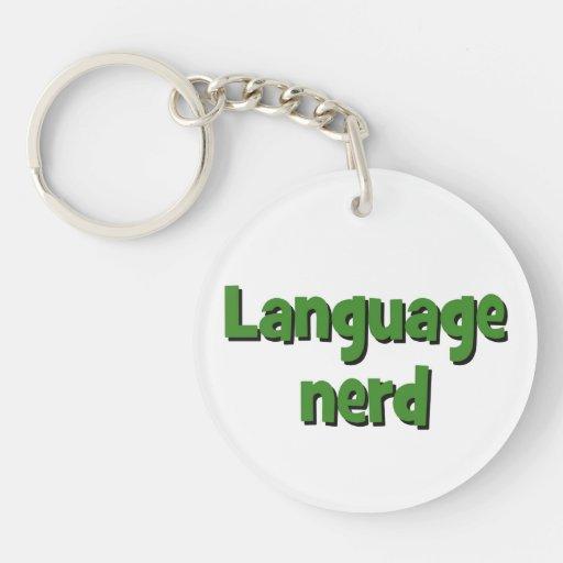 Language nerd Basic green Acrylic Key Chains