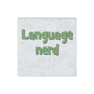 Language nerd Basic green Stone Magnet