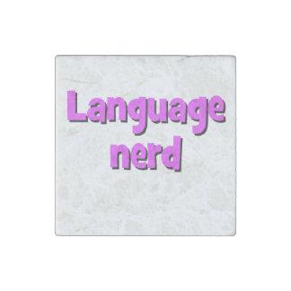 Language nerd Basic purple Stone Magnet