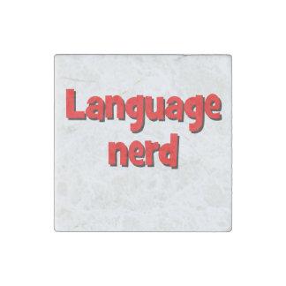 Language nerd Basic red Stone Magnet