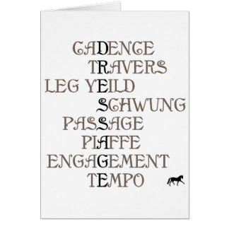 Language of Dressage Card