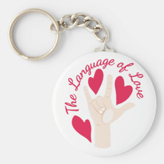 Language Of Love Key Ring