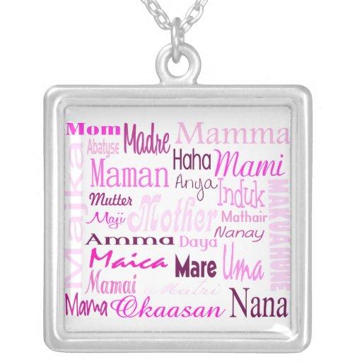 Language of Mom Pendant