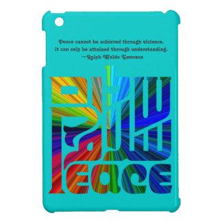 Language of Peace-Hebrew, English, Arabic/Blue Case For The iPad Mini