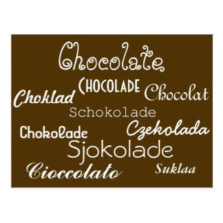 Languages of Chocolate Postcard
