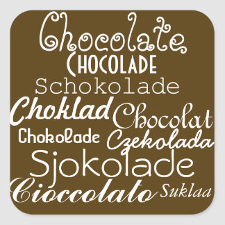 Languages of Chocolate Stickers
