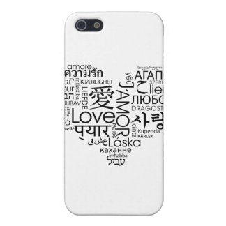 Languages of Love Heart Cover For iPhone 5/5S