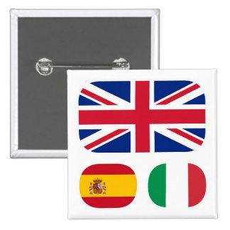 Languages-spoken-ling-parlate 15 Cm Square Badge