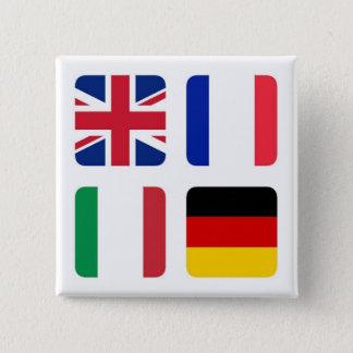 Languages spoken - Spoken languages 15 Cm Square Badge