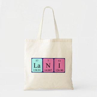 Lani periodic table name tote bag
