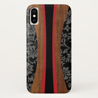 Laniakea Hawaiian Faux Wood Surfboard iPhone X Case