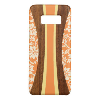 Laniakea Hawaiian Faux Wood Surfboard- Orange Case-Mate Samsung Galaxy S8 Case