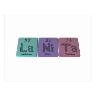 Lanita  as Lanthanum Nickel Tantalum Post Card
