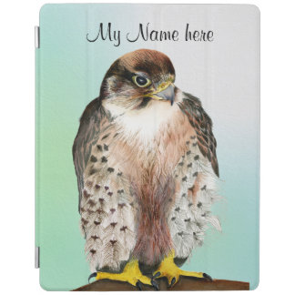 Lanner Falcon Bird Watercolor Falco biarmicus iPad Cover