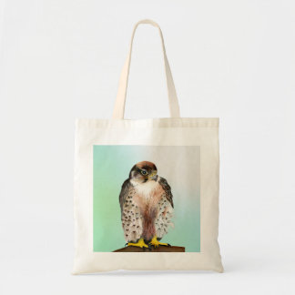 Lanner Falcon Watercolor Painting Wildlife Artwork Tote Bag